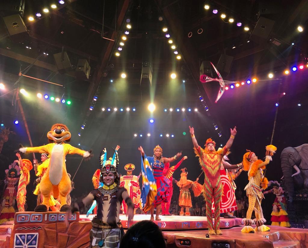 Show do Rei Leao no Animal Kingdom